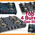 Best Glass Top 4 Burner Gas Stoves