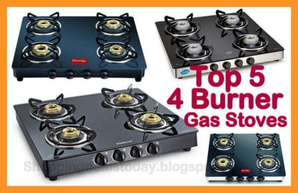 Top 5 Glass 4 BUrner Gas Stoves