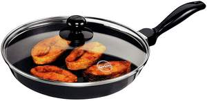 3-Hawkins Futura Non-Stick Frying Pan with Glass Lid