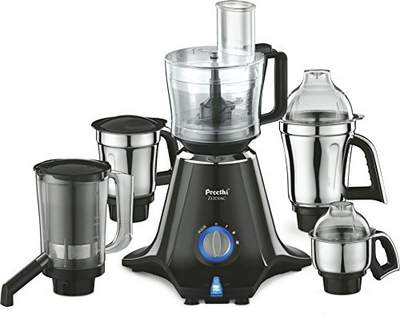 Preethi Zodiac MG 218 750-Watt Mixer Grinder with 5 Jars