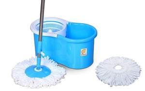 Esquire Elegant Spin Plastic Mop with 1 Extra Refill