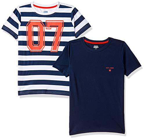 Amazon Brand - Jam & Honey Boy's Tribal Regular fit Cotton T-Shirt (SS19KBP02TEE105_Multicolor 10 4-5 Years)