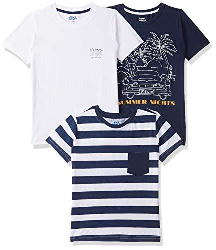 Amazon Brand - Jam & Honey Boy's Tribal Regular fit Cotton T-Shirt (SS19KBP03TEE109_Multicolor 8 5-6 Years)