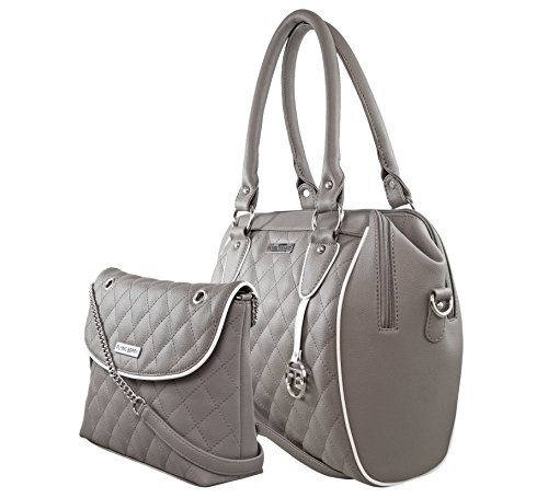 Flying berry Women's Hand bag COMBO PACK (PREMIUM EDITION) … (Grey)