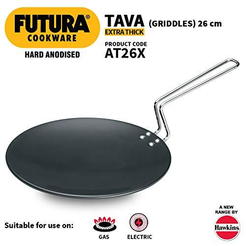 Hawkins - L50 Futura Hard Anodised Tawa, 26cm, Black