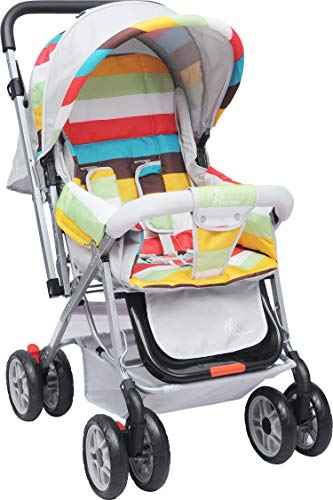 R for Rabbit Lollipop Lite - The Colourful Baby Stroller and Pram for Baby/Kids (Rainbow Multi Color)