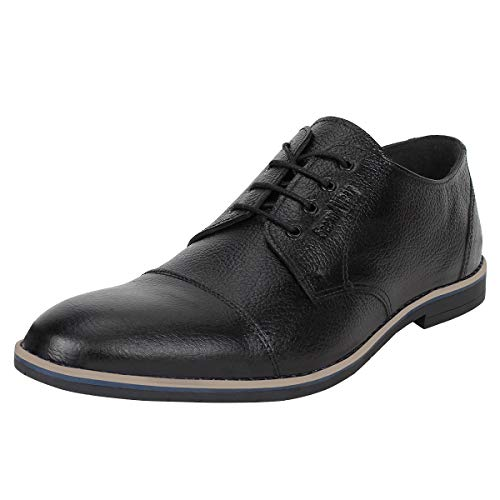 SeeandWear Leather Shoes for Men. Branded Black Lace up Pointed Formal Shoe (11)