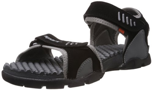 Sparx Men's Black and Grey Athletic and Outdoor Sandals - 9 UK (SS-103)