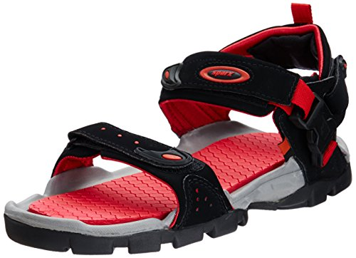 Sparx Men's Black and Red Athletic and Outdoor Sandals - 6 UK/India (40 EU)(SS0502G)