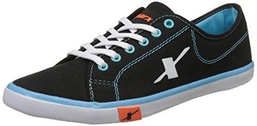 Sparx Men's Black and Sky Blue Sneakers - 8 UK/India (42 EU)(SC-283)