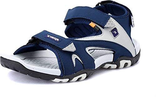 Sparx Men's Navy Blue and Grey Sandals (SS-453) (9)