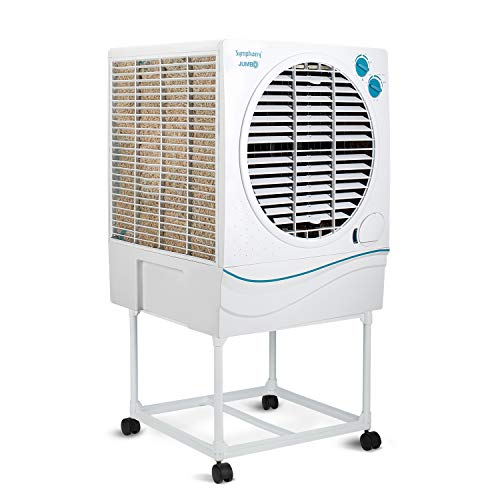Symphony Jumbo 70 Ltrs Air Cooler (White) - with Trolley