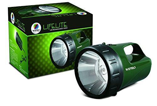 Wipro Lifelite CL0004 3-Watt Rechargeable LED Torch